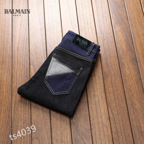 Replica Balmain Jeans For Men #858439 $48.00 USD for Wholesale