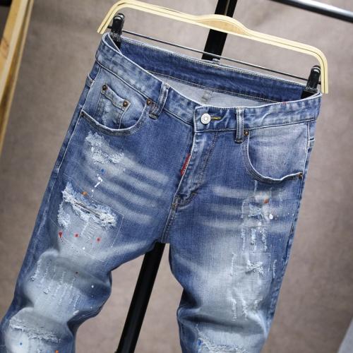 Replica Balmain Jeans For Men #858442 $48.00 USD for Wholesale