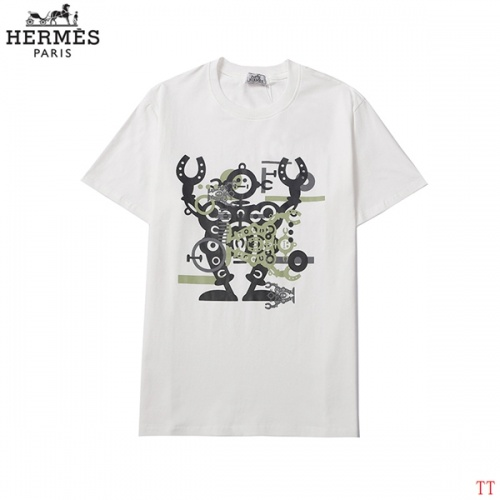 Hermes T-Shirts Short Sleeved For Men #858620