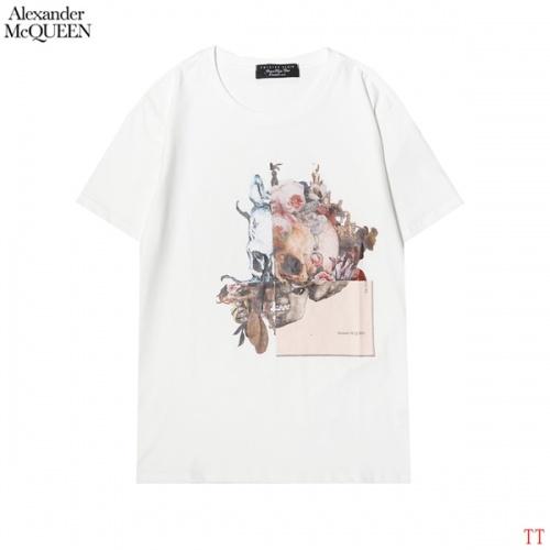 Alexander McQueen T-shirts Short Sleeved For Men #858643