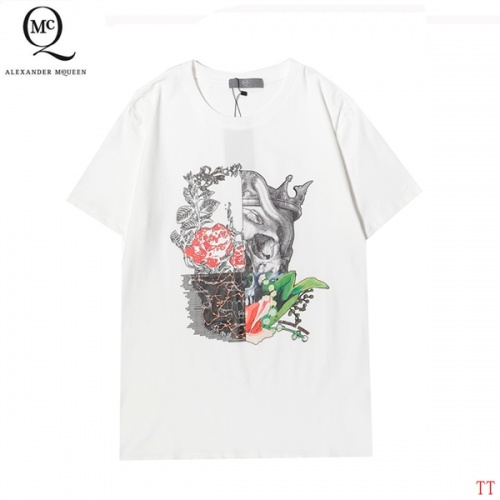 Alexander McQueen T-shirts Short Sleeved For Men #858646