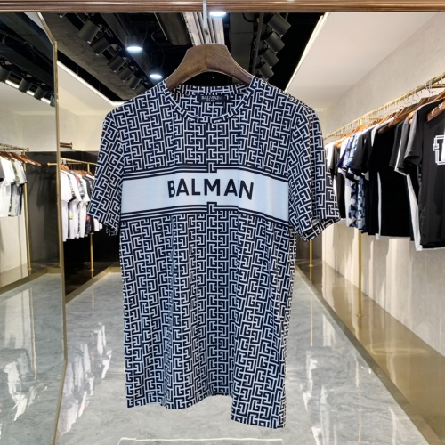 Balmain T-Shirts Short Sleeved For Men #858668