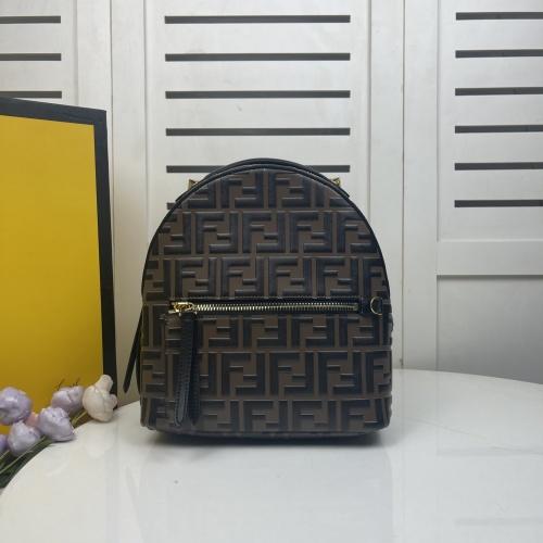 Fendi AAA Quality Backpacks For Women #858696