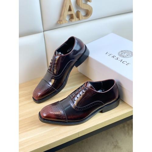 Versace Leather Shoes For Men #859213 $108.00 USD, Wholesale Replica Versace Leather Shoes