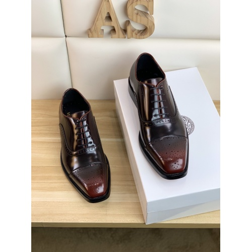 Replica Versace Leather Shoes For Men #859213 $108.00 USD for Wholesale