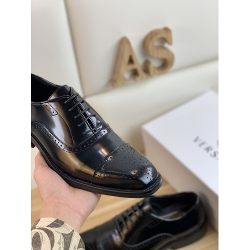 Replica Versace Leather Shoes For Men #859215 $108.00 USD for Wholesale
