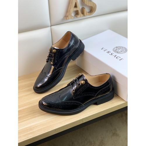 Versace Leather Shoes For Men #859216 $108.00 USD, Wholesale Replica Versace Leather Shoes