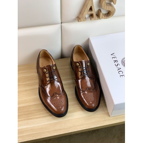 Replica Versace Leather Shoes For Men #859217 $108.00 USD for Wholesale