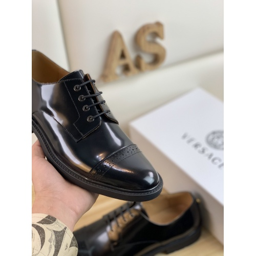 Replica Versace Leather Shoes For Men #859219 $108.00 USD for Wholesale