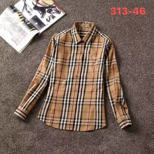 Burberry Shirts Long Sleeved For Women #861174