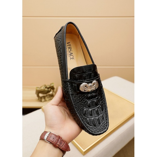 Replica Versace Leather Shoes For Men #862454 $68.00 USD for Wholesale