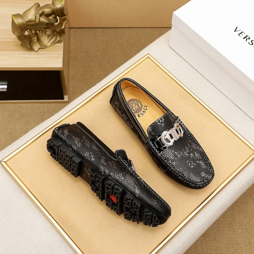 Replica Versace Leather Shoes For Men #862456 $68.00 USD for Wholesale