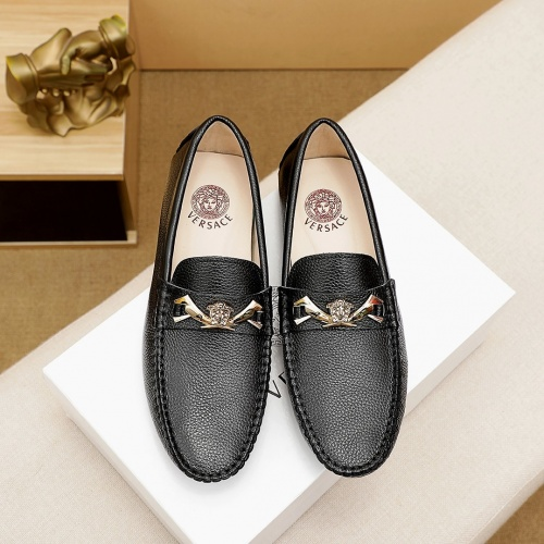 Replica Versace Leather Shoes For Men #862458 $68.00 USD for Wholesale