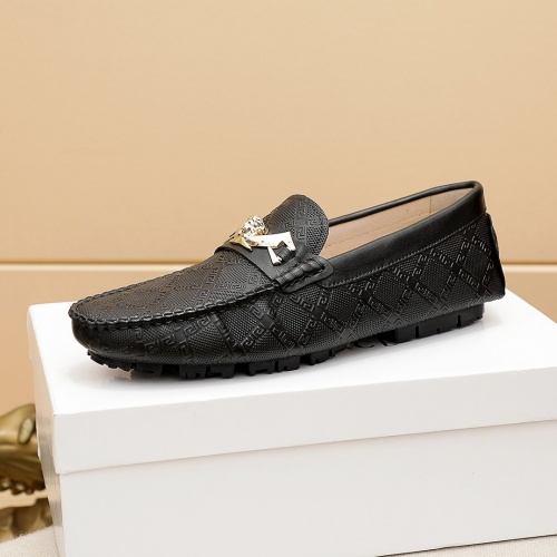 Replica Versace Leather Shoes For Men #862459 $68.00 USD for Wholesale
