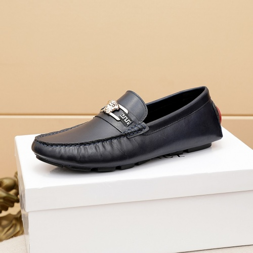Replica Versace Leather Shoes For Men #862460 $68.00 USD for Wholesale