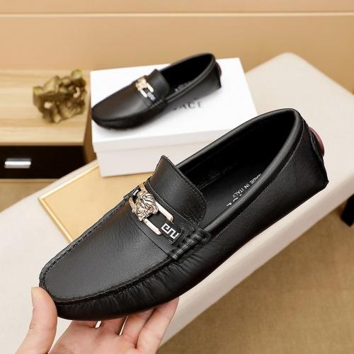 Versace Leather Shoes For Men #862461 $68.00 USD, Wholesale Replica Versace Leather Shoes