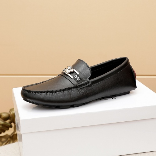 Replica Versace Leather Shoes For Men #862461 $68.00 USD for Wholesale