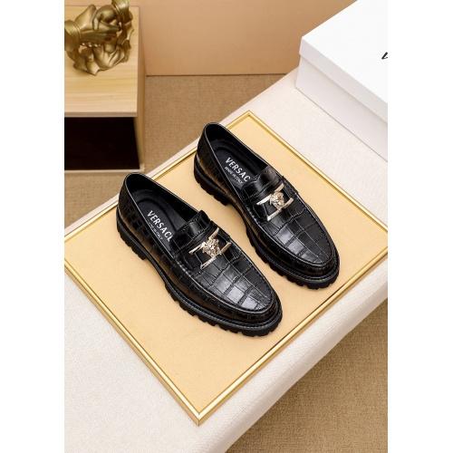 Versace Leather Shoes For Men #862492 $82.00 USD, Wholesale Replica Versace Leather Shoes
