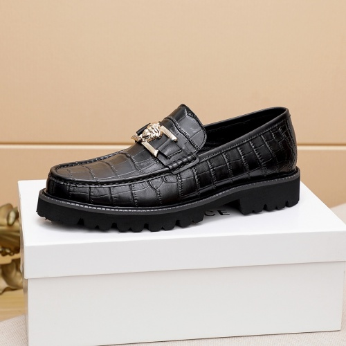 Replica Versace Leather Shoes For Men #862492 $82.00 USD for Wholesale