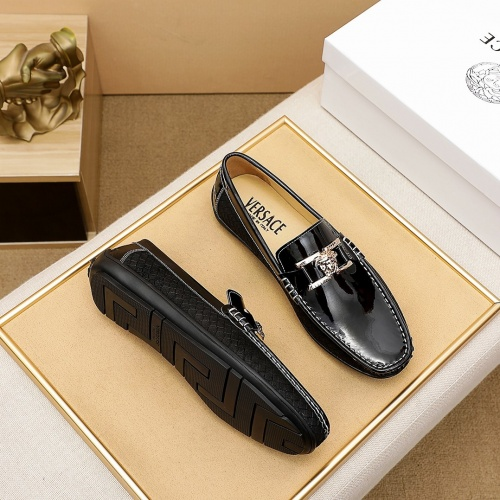 Replica Versace Leather Shoes For Men #863562 $68.00 USD for Wholesale