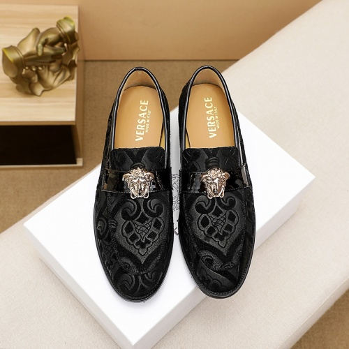 Replica Versace Leather Shoes For Men #863576 $80.00 USD for Wholesale
