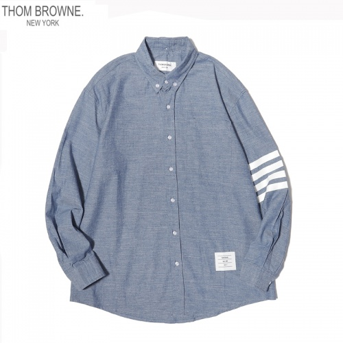 Thom Browne TB Shirts Long Sleeved For Men #863951