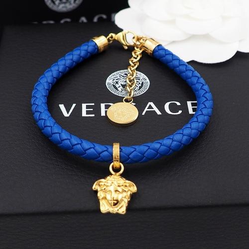 Versace Bracelet In Blue For Unisex #864077