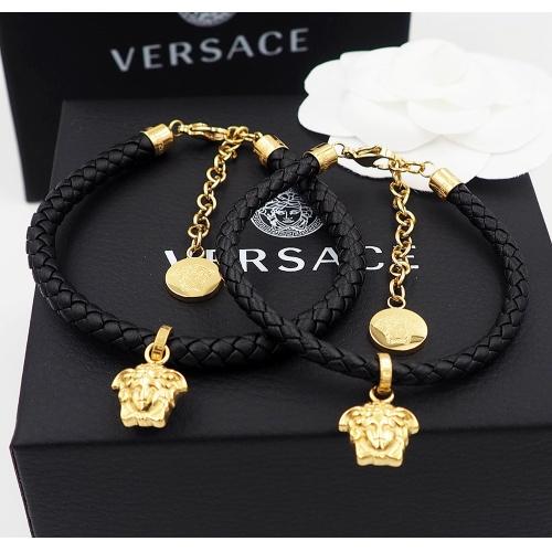 Versace Bracelet In Black For Unisex #864078