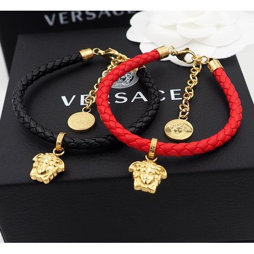 Versace Bracelet In Red For Unisex #864079