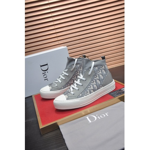 Christian Dior High Tops Shoes For Women #864455 $82.00 USD, Wholesale Replica Christian Dior High Tops Shoes