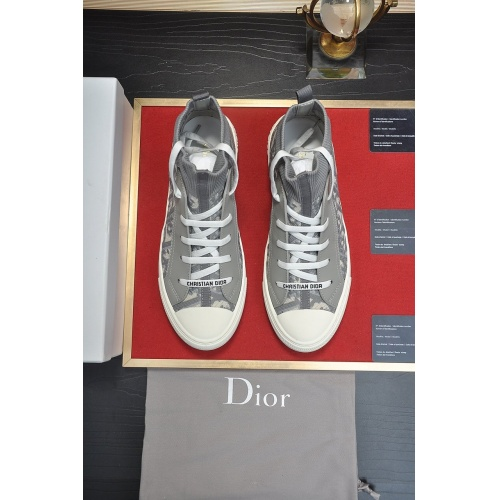 Replica Christian Dior High Tops Shoes For Women #864455 $82.00 USD for Wholesale