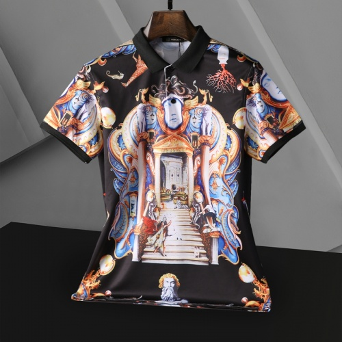 Replica Versace T-Shirts Short Sleeved For Men #865171 $25.00 USD for Wholesale
