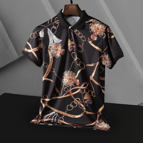 Replica Versace T-Shirts Short Sleeved For Men #865172 $25.00 USD for Wholesale