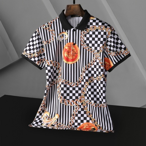 Replica Versace T-Shirts Short Sleeved For Men #865175 $25.00 USD for Wholesale