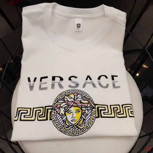 Replica Versace T-Shirts Short Sleeved For Men #865621 $39.00 USD for Wholesale