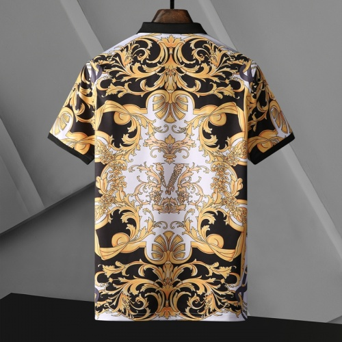 Replica Versace T-Shirts Short Sleeved For Men #865970 $29.00 USD for Wholesale