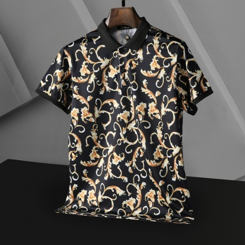 Replica Versace T-Shirts Short Sleeved For Men #865971 $29.00 USD for Wholesale