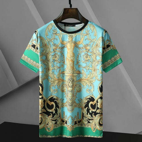 Versace T-Shirts Short Sleeved For Men #866043 $25.00 USD, Wholesale Replica Versace T-Shirts