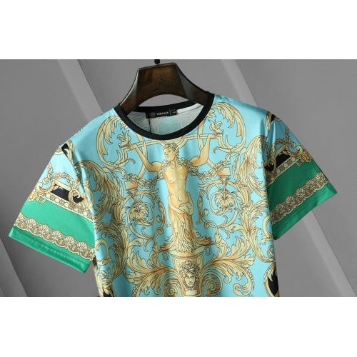 Replica Versace T-Shirts Short Sleeved For Men #866043 $25.00 USD for Wholesale
