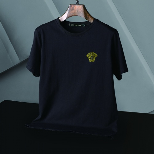 Replica Versace T-Shirts Short Sleeved For Men #866057 $25.00 USD for Wholesale