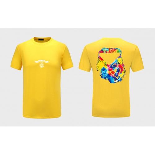 Prada T-Shirts Short Sleeved For Men #867300 $27.00 USD, Wholesale Replica Prada T-Shirts