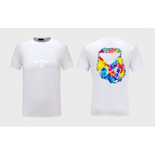 Prada T-Shirts Short Sleeved For Men #867301 $27.00 USD, Wholesale Replica Prada T-Shirts