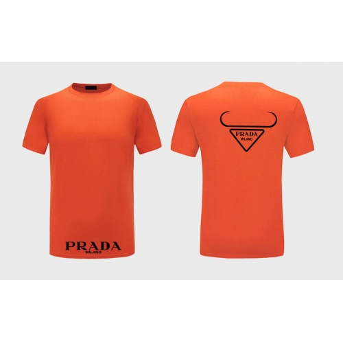 Prada T-Shirts Short Sleeved For Men #867310 $27.00 USD, Wholesale Replica Prada T-Shirts
