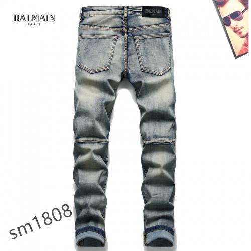 Replica Balmain Jeans For Men #867366 $48.00 USD for Wholesale