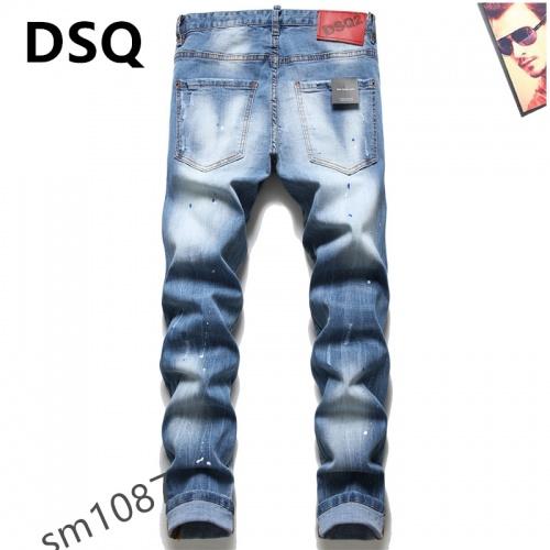 Replica Dsquared Jeans For Men #867373 $48.00 USD for Wholesale
