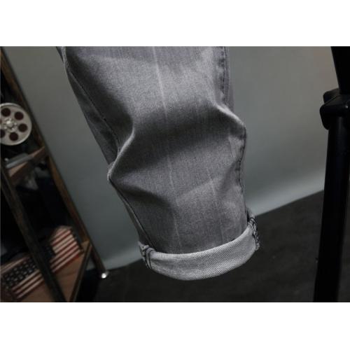 Replica Philipp Plein PP Jeans For Men #867379 $48.00 USD for Wholesale