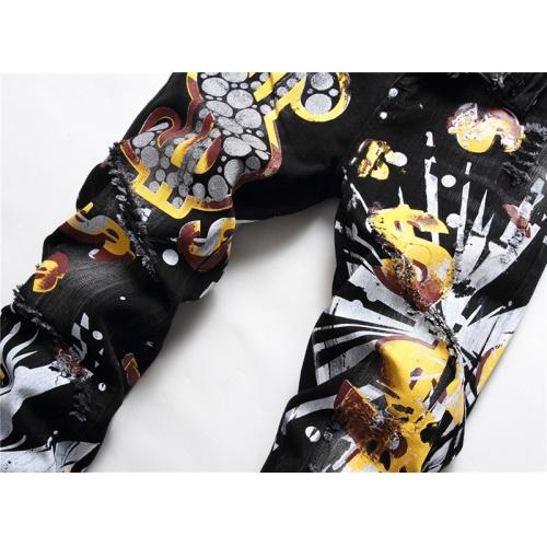 Replica Philipp Plein PP Jeans For Men #867380 $48.00 USD for Wholesale