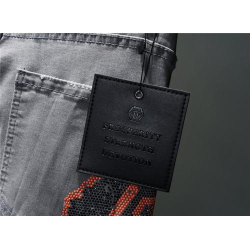 Replica Philipp Plein PP Jeans For Men #867381 $48.00 USD for Wholesale