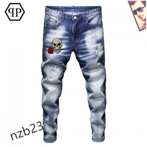 Philipp Plein PP Jeans For Men #867383 $48.00 USD, Wholesale Replica Philipp Plein PP Jeans