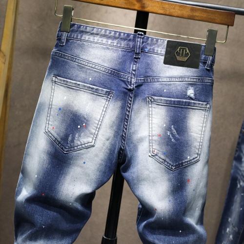 Replica Philipp Plein PP Jeans For Men #867383 $48.00 USD for Wholesale
